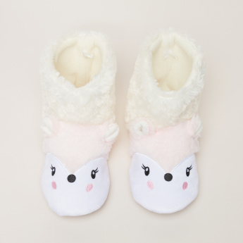 Plush High Top Indoor Shoes