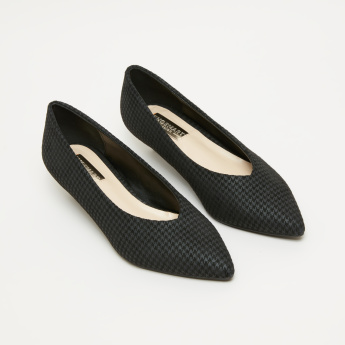 Chequered Slip-On Pumps