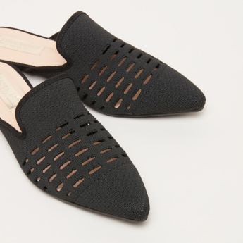 Knitted Mules with Cutout Detail