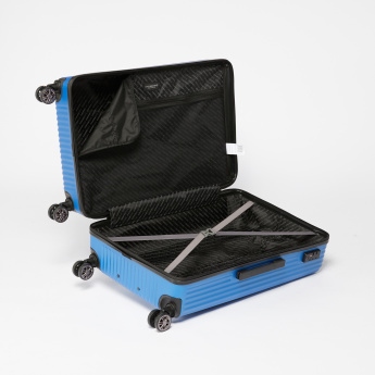 Swiss Brand Textured Hard Case Travel Bag with Zip Closure