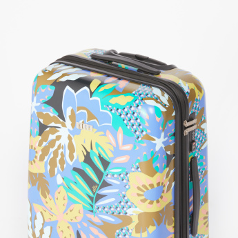 ELLE Floral Printed Hard Case Trolley Bag with Cushion Handle