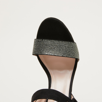 STEVE MADDEN Rhinestone Detail Sandals with Ankle Strap