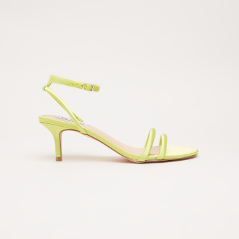 STEVE MADDEN Ankle Strap Sandals with Pin Buckle Closure