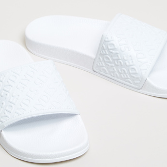 Textured Broad Strap Slides