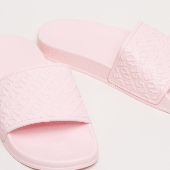 Slides with Textured Strap