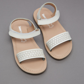 Barefeet Cutwork Sandals with  Hook and Loop Closure