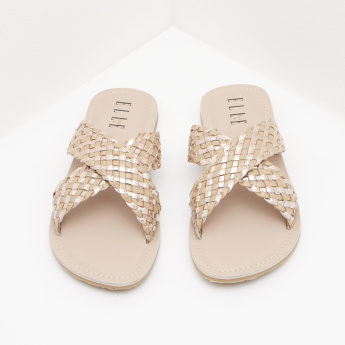 ELLE Cross Strap Slides