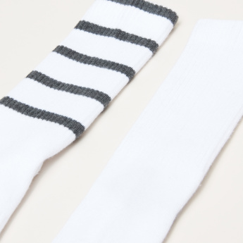 Ribbed Crew Length Socks - Set of 2