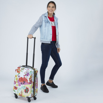 Mia Toro Floral Printed Hard Case Travelling Bag