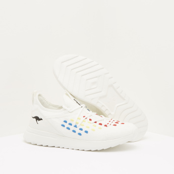 KangaROOS Sneakers with Lace-Up Closure and Vibrant Embroidery Detail