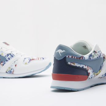 KangaROOS Printed Sneakers with Lace-Up Closure