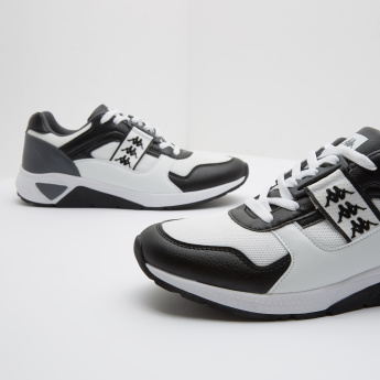 Kappa Printed Sneakers with Lace-Up Closure