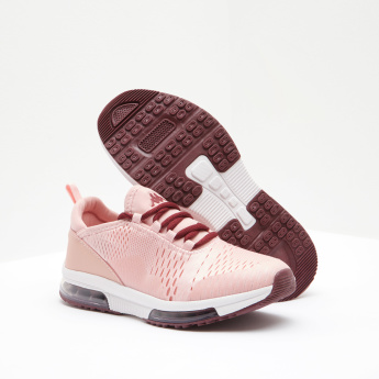 Kappa Perforated Running Shoes with Lace-Up Closure