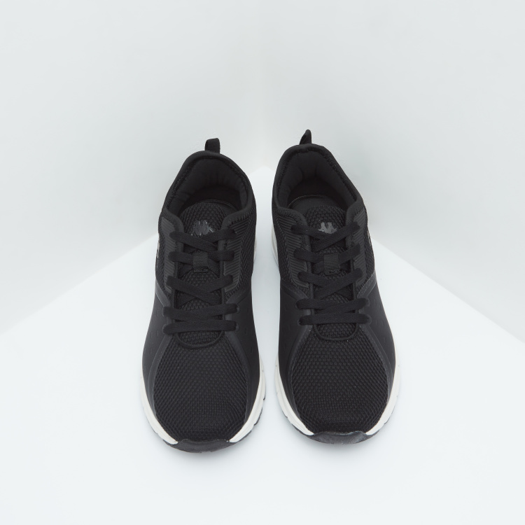 Kappa Textured Running Shoes with Lace-Up Closure