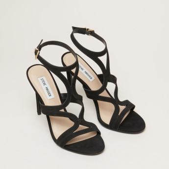 STEVE MADDEN Stiletto Heel Sandals with Ankle Strap
