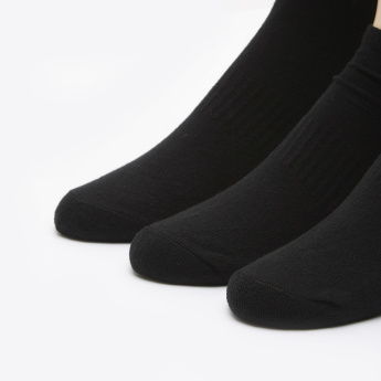 Solid Ankle-Length Socks - Set of 3