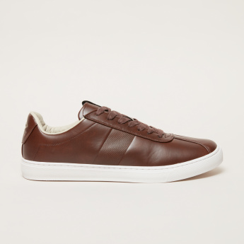 Lee Cooper Lace-Up Sneakers with Logo Detail