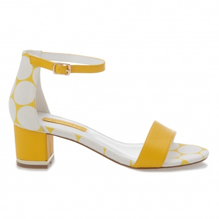 Paprika Block Heel Sandals