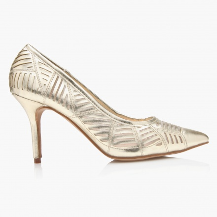 Paprika laser Cut Heel Shoes