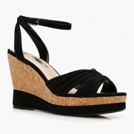 Paprika Mid Heel Wedge Sandals