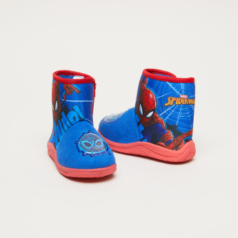 Spider-Man Printed High Top Boots with Zip Closure