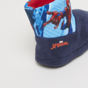 Spider-Man Printed Slip-On High Top Bedroom Boots