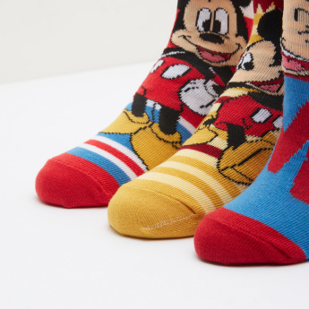 Mickey Mouse Printed Socks - Set of 3