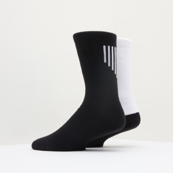 Dual Tone Crew Length Socks - Set of 2