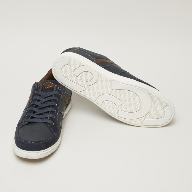 Lee Cooper Textured Sneakers with Stitch Detail