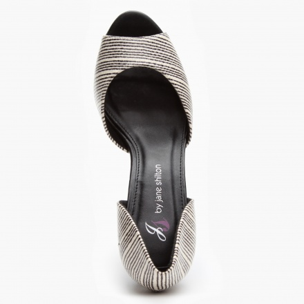 Jane Shilton Striped Peep-toe Shoes