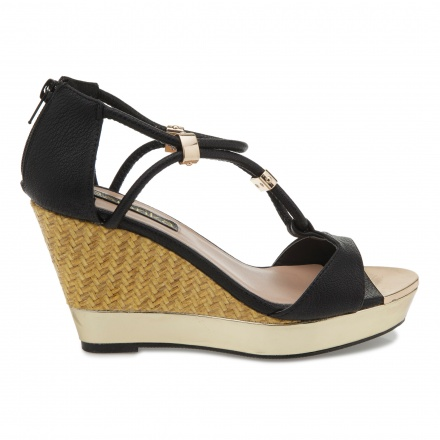 Paprika T-bar Wedge Sandals