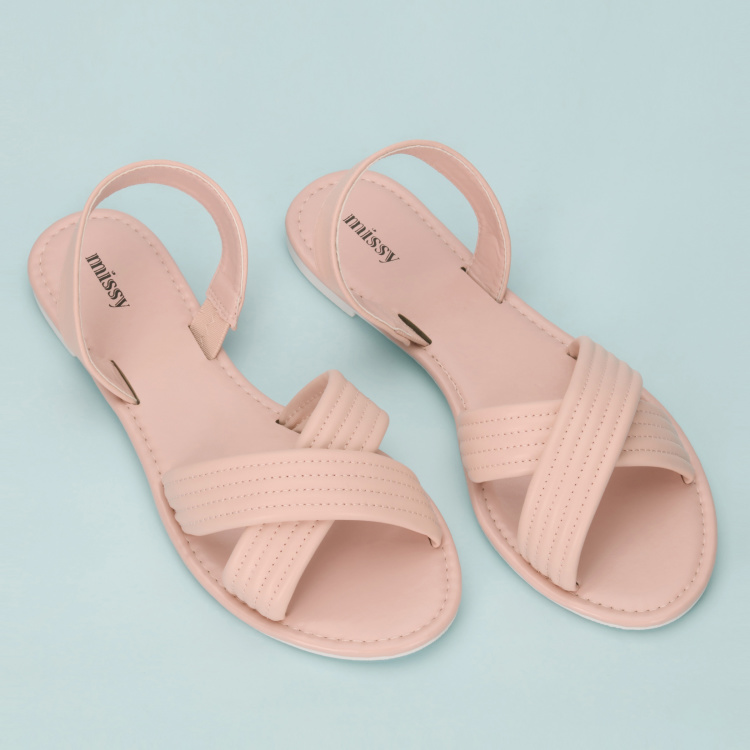 Missy Cross Strap Sandals with Back Strap