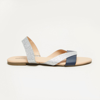 Missy Glitter Sandals with Sling Back