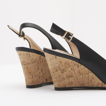 Ankle Strap Wedges with Buckle Closure