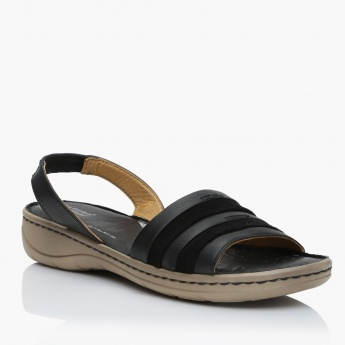 Le Confort Striped Slides with Back Strap