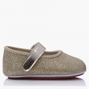 Juniors Textured Hook and Loop Booties