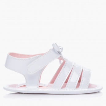 Juniors Hook and Loop Strap Sandals