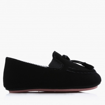 Juniors Textured Slip-On Booties