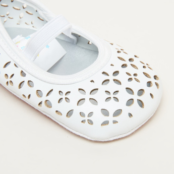 Juniors Laser Cut Detail Booties with Elasticised Band