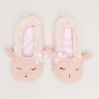Plush Indoor Shoes with Ear Accent