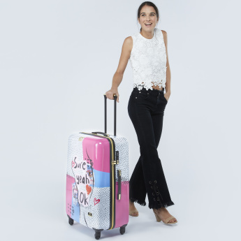 Mia Toro Printed Hard Case Trolley Bag