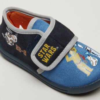 Star Wars Printed Shoes with Hook and Loop Closure