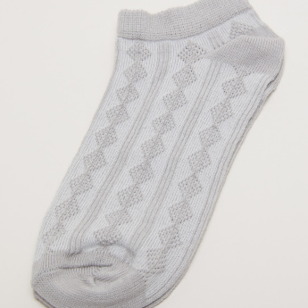 Juniors Textured Ankle Length Socks - Set of 3