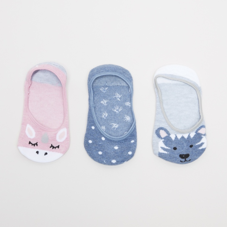 Printed No Show Socks - Set of 3