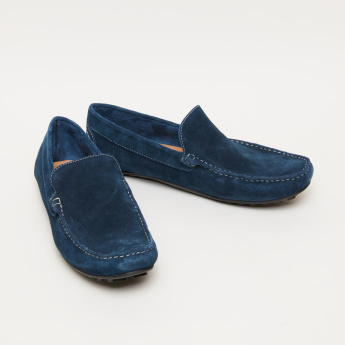 Slip-On Moccasins with Stitch Detail