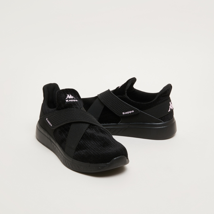 Kappa Textured Sneakers with Vamp Bands