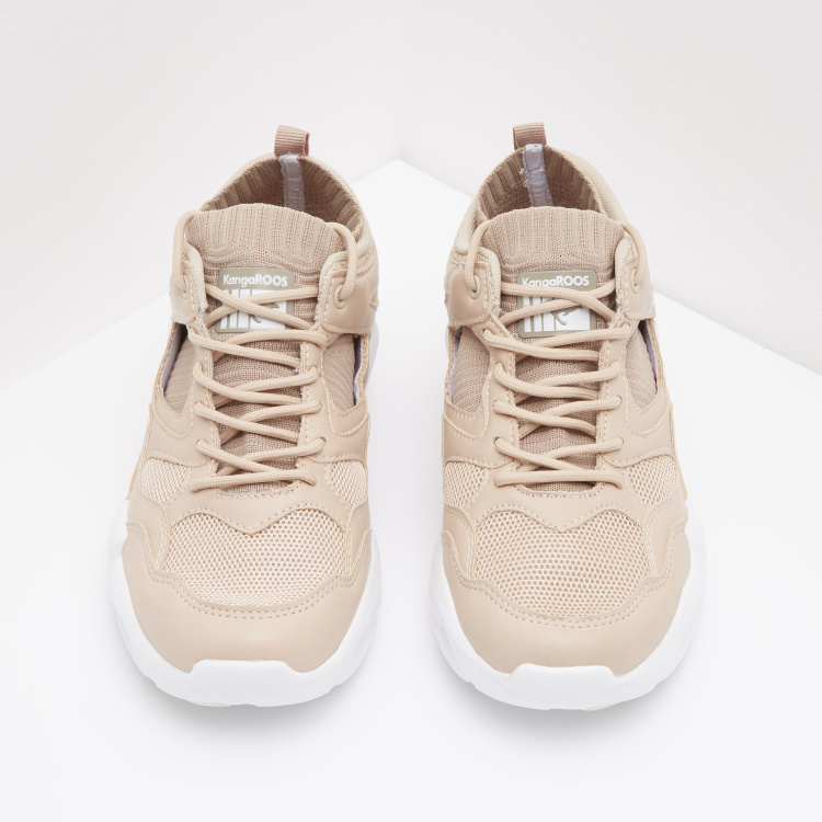 KangaROOS Textured Low Top Lace Up Sneakers