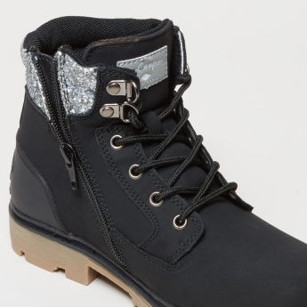 Lee Cooper High Top Shoes with Glitter Detail