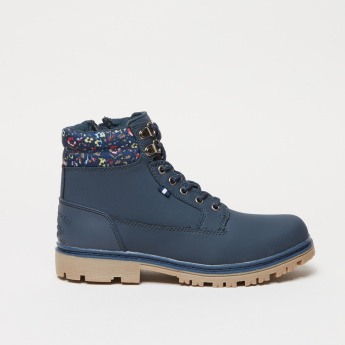 Lee Cooper High Top Boots with Glitter Detail