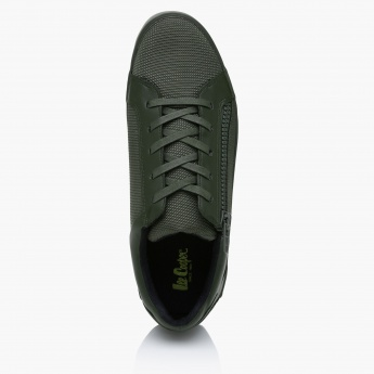 Lee Cooper Lace-Up Sneakers with Zip